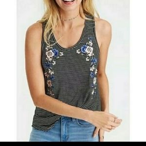 AMERICAN EAGLE Soft & Sexy Embroidered Tank Top